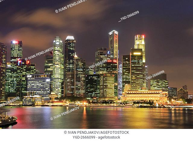 Central Business District at Night, Singapore