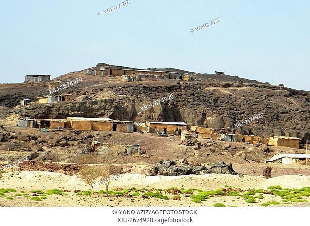 village, danakil, ethiopia