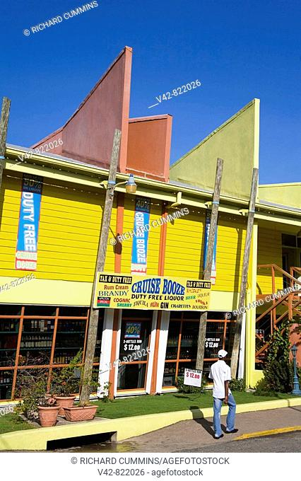Stores on Cruise Ship Pier, Ocho Rios, St Ann's Parish, Jamaica, Caribbean