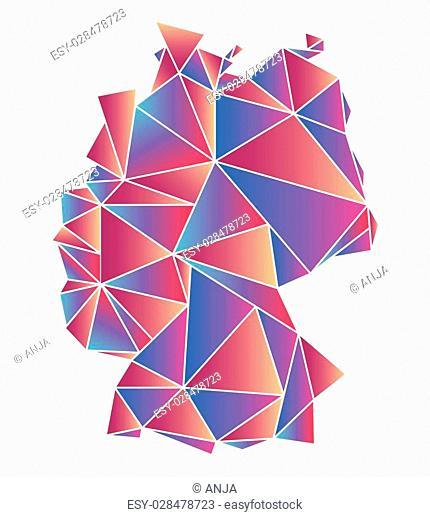 polygonal map of Germany