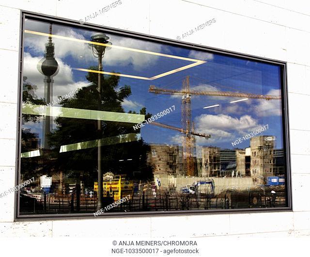 Berlin in window