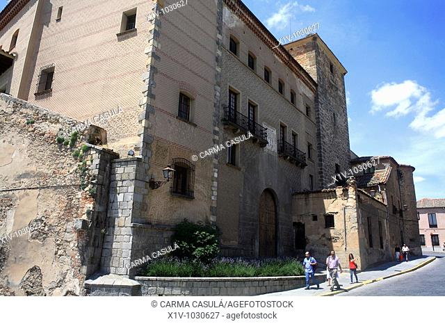 Casa de las Cadenas (15th century) in the Caballeros area, Segovia. Castilla-Leon, Spain