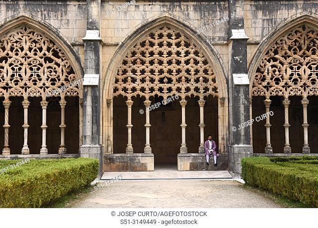 Cloister of the Monastery of Santa Maria da Vitoria, Batalha, Centro region, Portugal