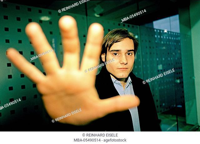 man at negative gesture