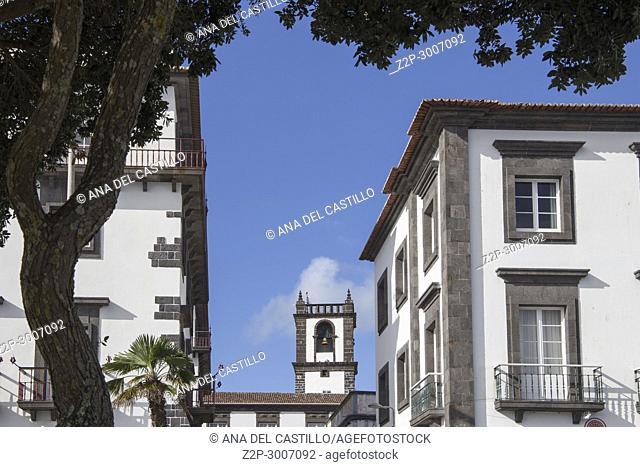 Cityscape in Ponta Delgada Sao Miguel island Azores Portugal