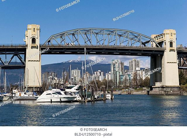 Boat under Grandville Street Bridge