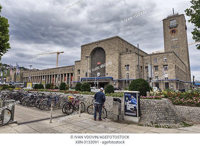 Main station (1928), Stuttgart, Baden-Wurttemberg, Germany