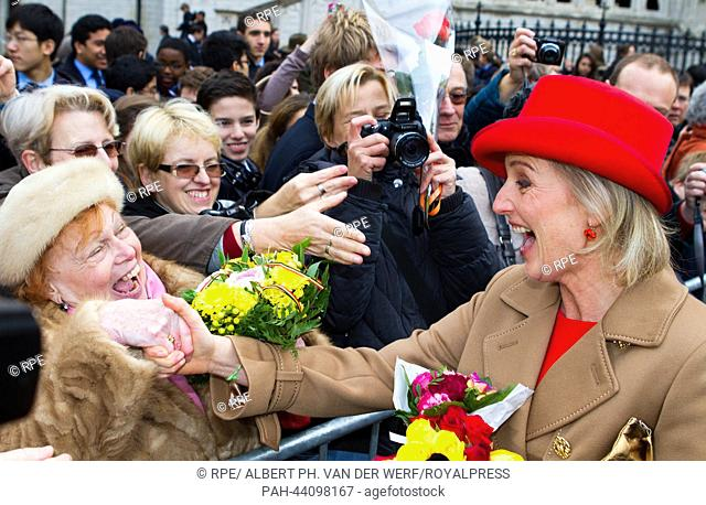 Belgium Princess Astrid arrives at the Cathedral of St. Michael and St. Gudula on the occasion of the King's Day in Brussels, Belgium, 15 November 2013