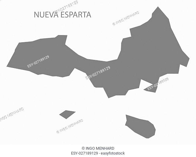 Nueva Esparta Venezuela Map in grey