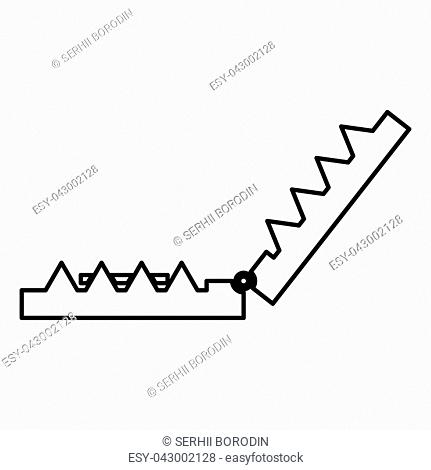 Trap icon black color vector illustration flat style simple image