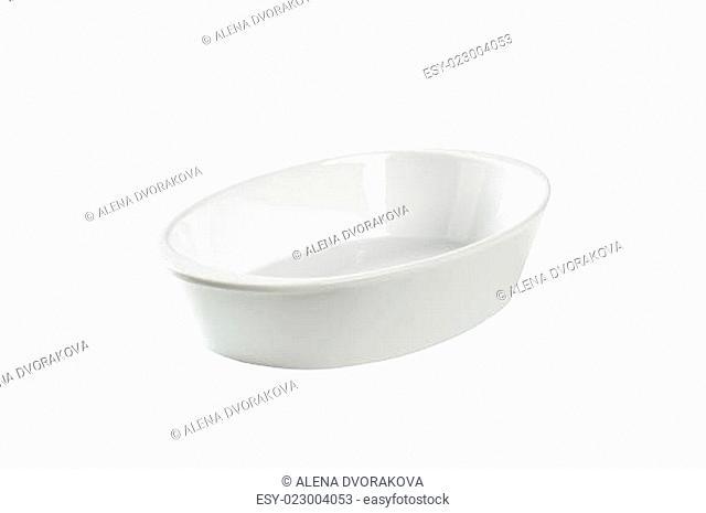 Deep oval porcelain roaster