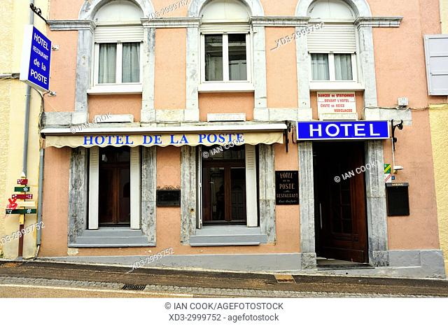 hotel front, Bareges, Hautes-Pyrenees Department, Occitanie, France