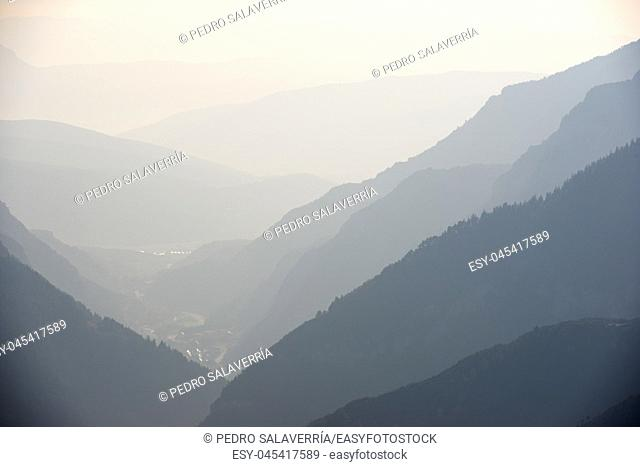 Hills in Canfranc Valley, Pyrenees, Huesca Province, Aragon, Spain