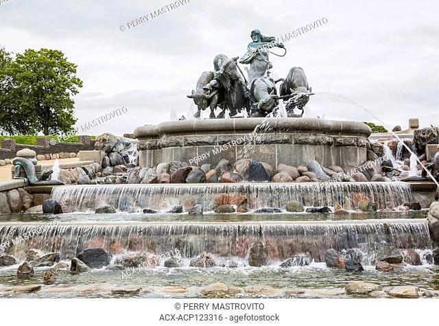 Gefion water fountain, Copenhagen Denmark, Europe