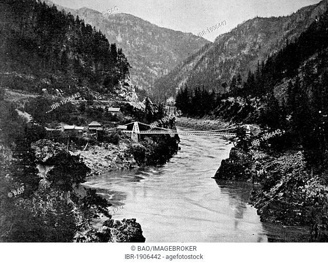 Early autotype of the Rocky Mountains, USA, America, 1880