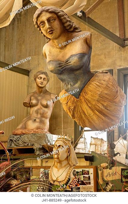 Donna Demente's studio, a 'must see' gallery in historic quarter, Oamaru, Otago New Zealand