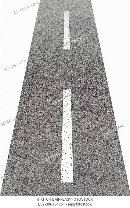 A close up shot of road markings