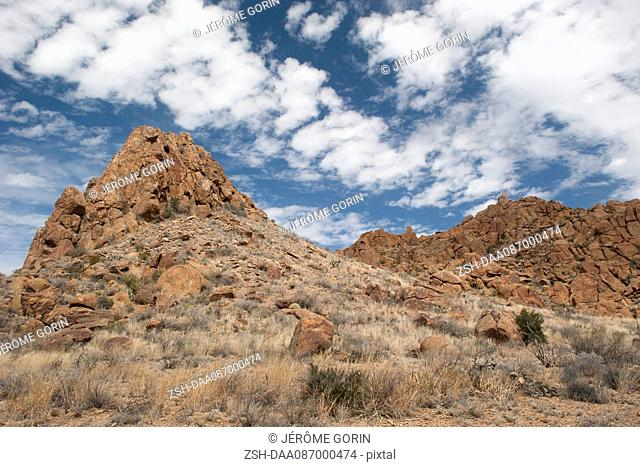 Rocky hills in Big Bend National Park, Texas, USA