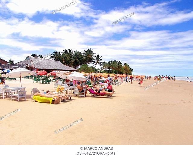 bahia beach with people relaxing