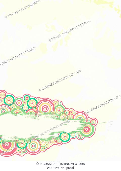Abstract background with circles with space to place your own text