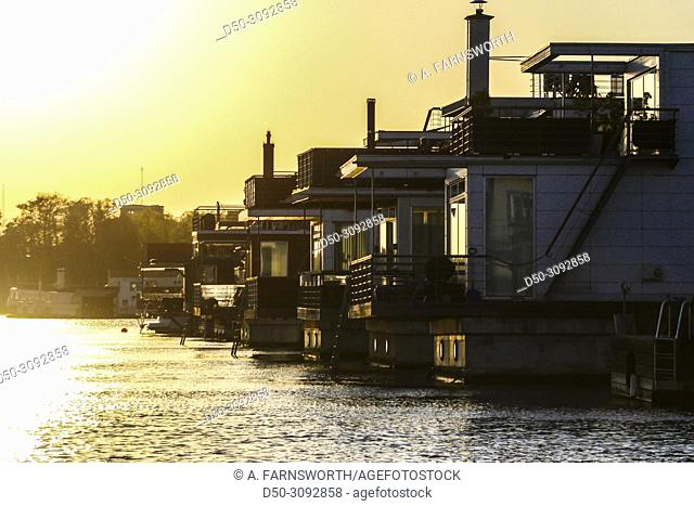 The Pampas Marina and houseboats. Stockholm, Sweden