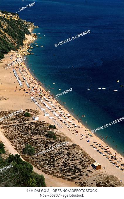 Beach,Sierra de Arrábida, Atlántic Ocean, Alentejo, Sesimbra, Portugal, Europe