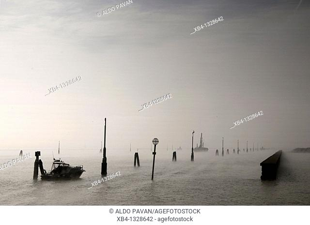 Italy, Venice, lagune near Marghera, the industrial district