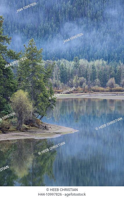 USA, Rocky Mountains, Wyoming, Grand Teton, National park, Oxbow bend of the Snake river