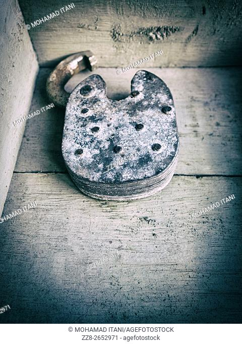 Old decayed padlock