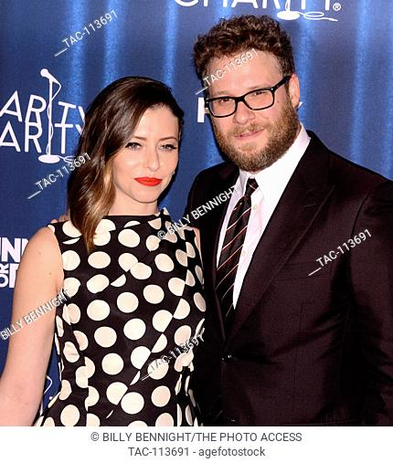 Lauren Miller and Seth Rogen attends 4th Annual Hilarity For Charity Variety Show: James Franco's Bar Mitzvah benifiting the Alzeimer's Association presented by...