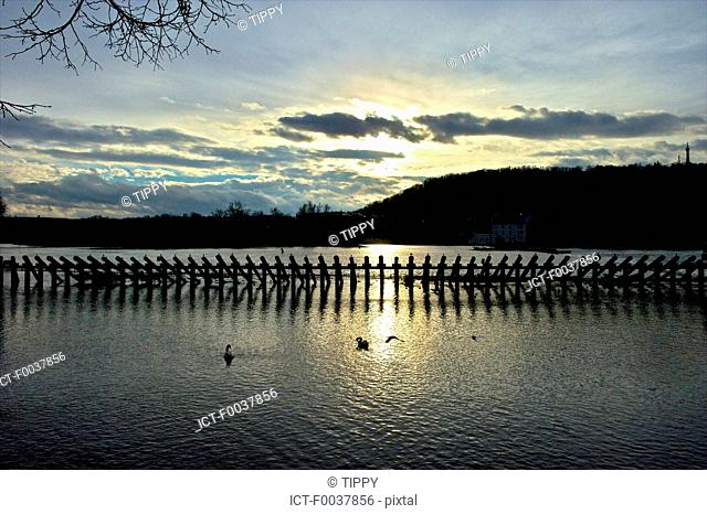 Czech Republic, Prague, stilts on the Charles bridge