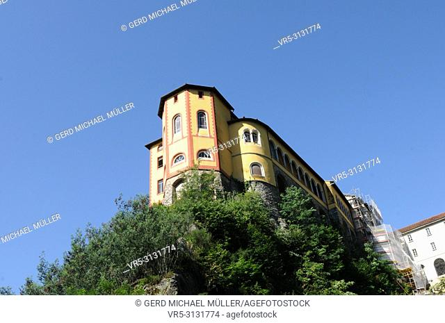 South Switzerland; The Monastry Santa Caterina del Sasso on Mount Carcada above Lake Maggiore