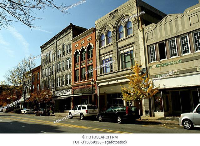 Greensboro, NC, North Carolina, Downtown, autumn
