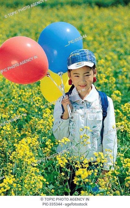 A Girl In Rape Flowers,Korean