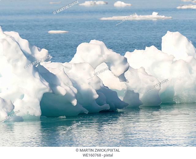 Iceberg in the Pakitsoq Fjord System. America, North America, Greenland, Denmark