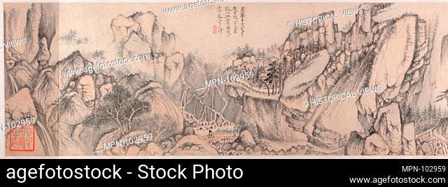 明 趙左 谿山無盡åœ- o·/Streams and Mountains without End. Artist: Zhao Zuo (Chinese, ca. 1570-after 1630); Period: Ming dynasty (1368-1644); Date: Dated...
