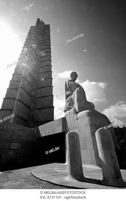 Giant Obelisk Memorial Jose Marti, in Revolution Square, 'Plaza de la Revolucion', La Habana, Cuba