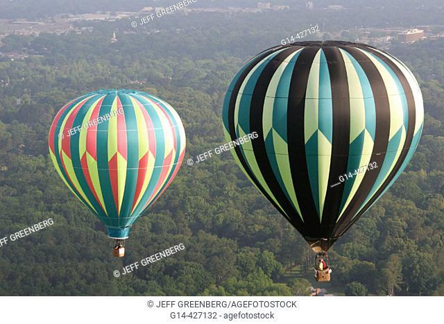 Alabama, Decatur, Point Mallard Park, Alabama Jubilee Hot Air Balloon Classic, aerial