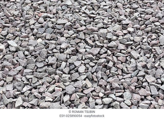Gravel granite stones for background or texture