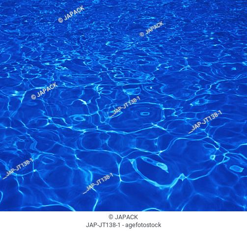 Water surface in bright sunshine