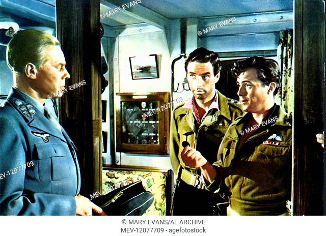'Marius Goring, David Oxley & Dirk Bogarde Characters: Major General Kreipe,Captain W. Stanley Moss, M.C. & Maj. Patrick Leigh Fermor aka Philedem Film: Ill Met...