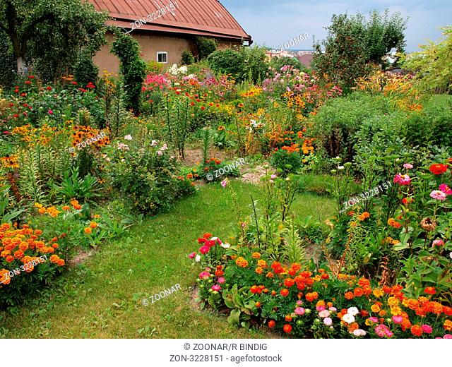 Blumengarten in Polen