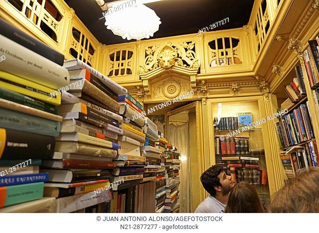 The old Sant Jordi bookshop on Ferran Street. Barcelona, Catalonia, Spain, Europe