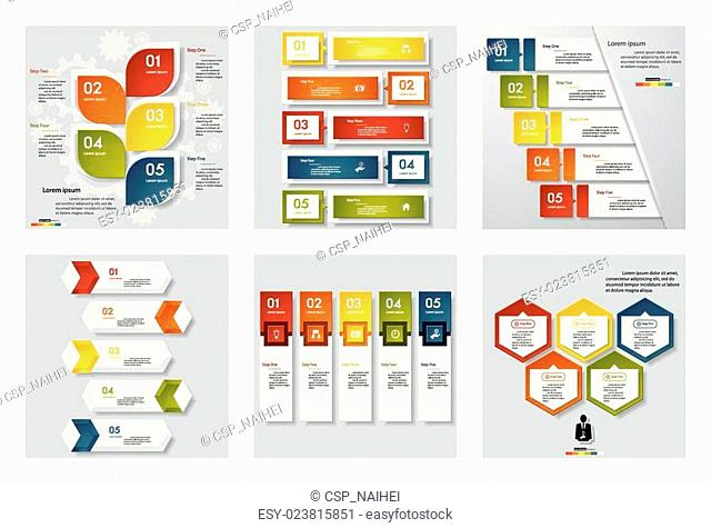Collection of 6 design templates