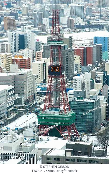 City of Sapporo, Japan in winter