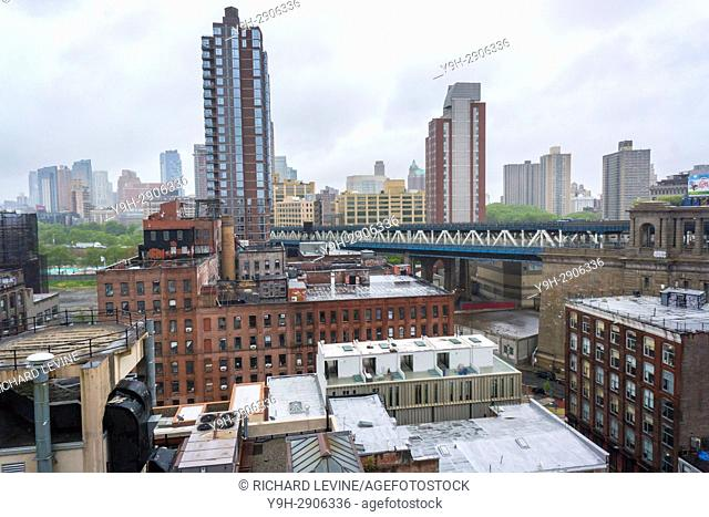 General view of the Brooklyn neighborhood of Dumbo in New York