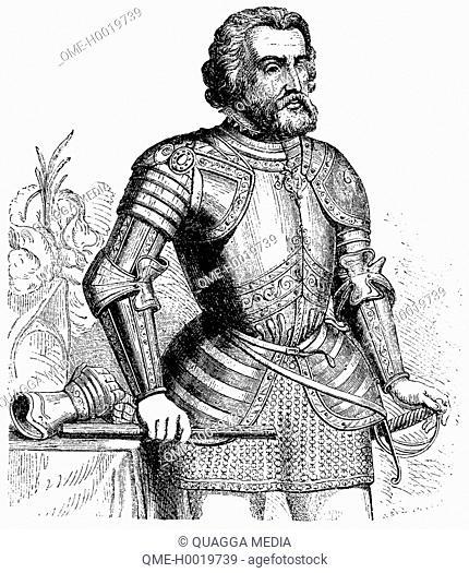 Hernán Cortés (1485-1547), Spanish conquistador