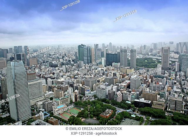 View of Tokyo from Tokyo tower