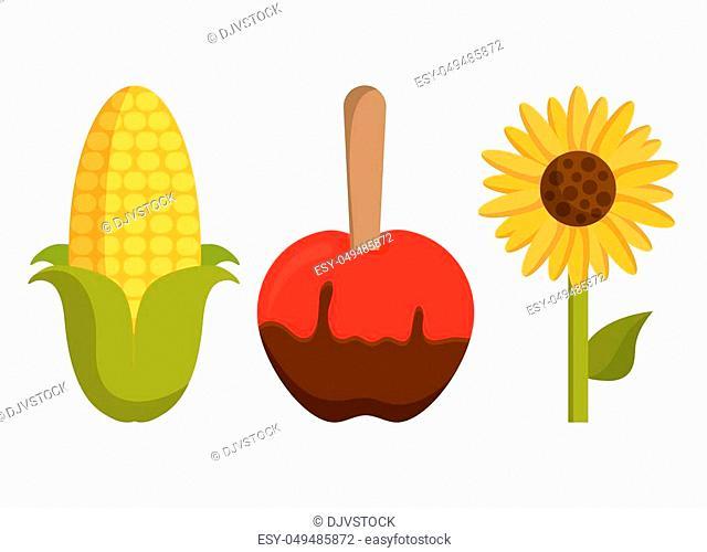 festa junina related icons over white background. colorful design. vector illustration