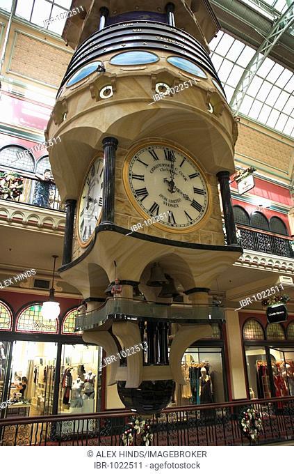 The Great Australian Clock inside the Queen Victoria Building, Sydney, Australia